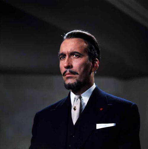 The great Christopher Lee as Duc de Richleau in The Devil Rides Out (1968), one of Lee's favorite films. He has performed in more film roles than anyone in history: 275 since 1946. Including such classic film series as the Lord of the Rings, Star Wars, not to mention Police Academy. Oops. Did I mention it? He also played Dracula about a dozen times. He is the best. Via beautyandterrordance & greggorysshocktheater