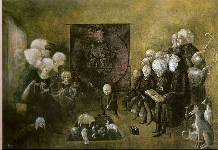 So long, Leonora. RIP. proustitute:  Leonora Carrington, Litany of the Philosophers, 1953 (thanks skibinskipedia)