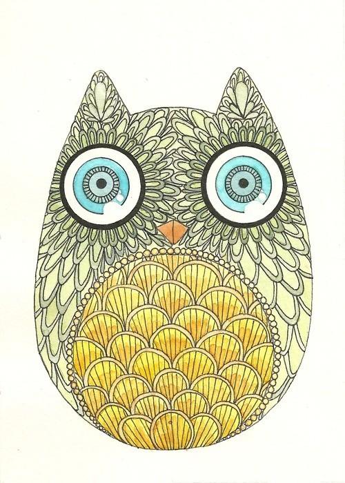 Owl Tumblr artowlanimalsillustration