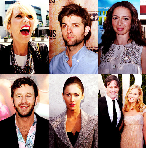 The cast of Friends With Kids. Kristen Wiig, Adam Scott, Maya Rudolph, Chris O'Dowd, Megan Fox, Jon Hamm & Jennifer Westfeldt.   It isn't theoretically possibly for this to be a bad movie.