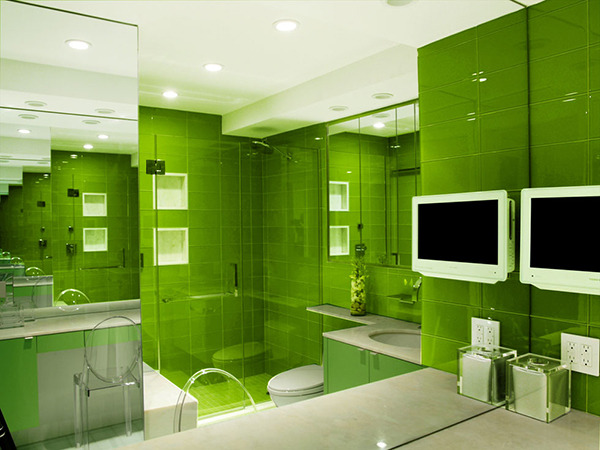 That is a green bathroom.