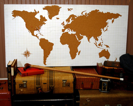 How To: Make a  Cork Board World Map