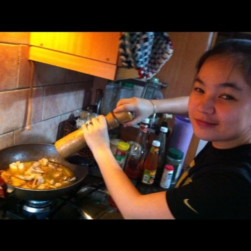 My cutie chef :D (Taken with Instagram at Project 4, Quezon City)