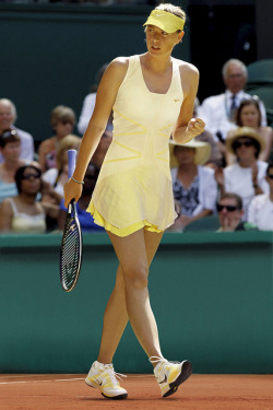 """we salute sharapova's color choice and offer the idea that our daffodil jeweled kati cardigan might make an ideal complement to her look as the evening wind picks up at roland garros. "" more at the weekly spade"