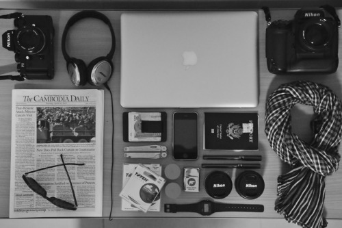 this is beautiful macbook + cameras + scarf + headphones + everything = sexiest inanimate objects everand let's not forget that cambodia daily CAMBODIA DAILY, LET ME LOVE YOU DOWN