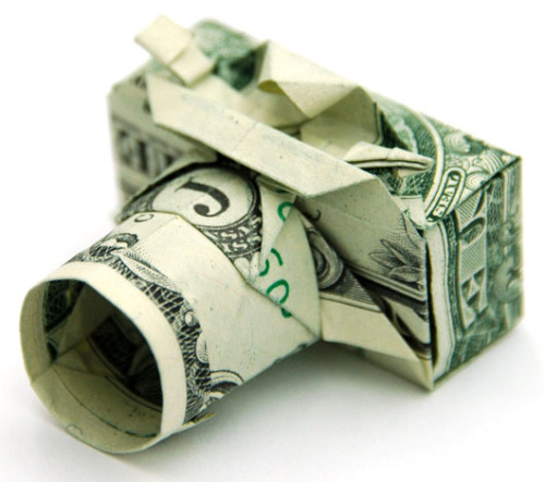 laughingsquid:  Origami Compact Camera Created With a One Dollar Bill