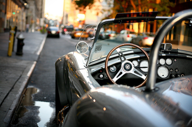 Shelby Cobra spotted on the streets of New York City. Photo by Oliver Quillia.