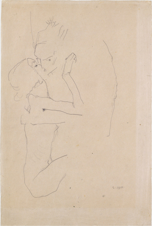 The Kiss, Egon Schiele, 1911.