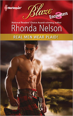 [Real Men Wear Plaid!] And, apparently, very little else? I love that this title actually has an exclamation point.