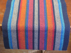 iamtheweathergirl:  :::Favorites on Friday::: Handwoven, striped table runner by Amy C. Lund Handweaver & Handspinner on Etsy