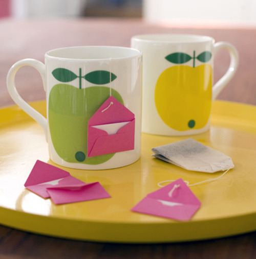 Tea bag note Via Oh Crafts!