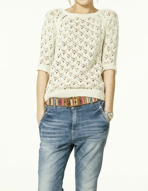 haybinkunduz:  Lovely knitwear and comfy jeans!