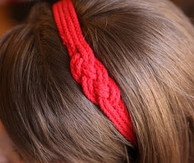 DIY Nautical Headband (by presserfoot).