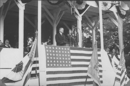 President Hoover delivers a Memorial Day speech at historic Gettysburg Battlefield, May 20, 1930. More images can be found through the Hoover Library's Research Collections.
