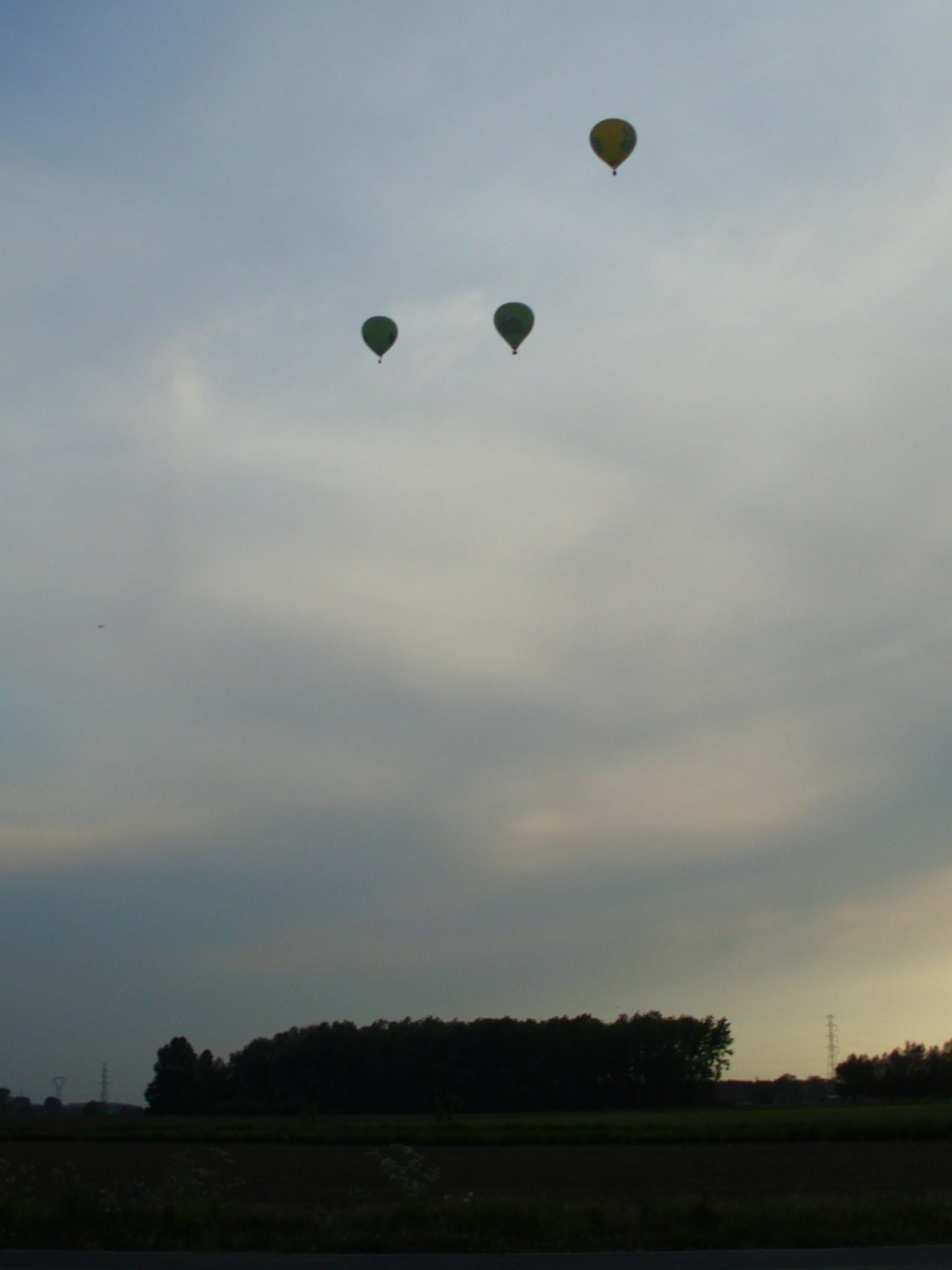 I love when the sky is littered with hot air balloons. Right when the sun is setting.
