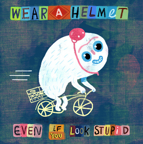 childrensbooks:  drawnblog: Wear a helmet (by Matt Forsythe)