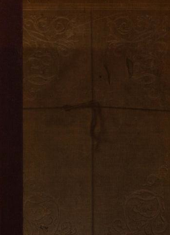 Evidence of a book tie (sun/acid damage?) Front cover of An Exposition Upon the Epistle of Jude by Jenkyn and Sherman (1839). [Here]