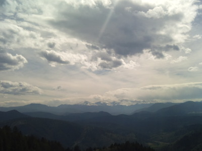 My view over 7,000 feet later when I reached the top of the mountain…