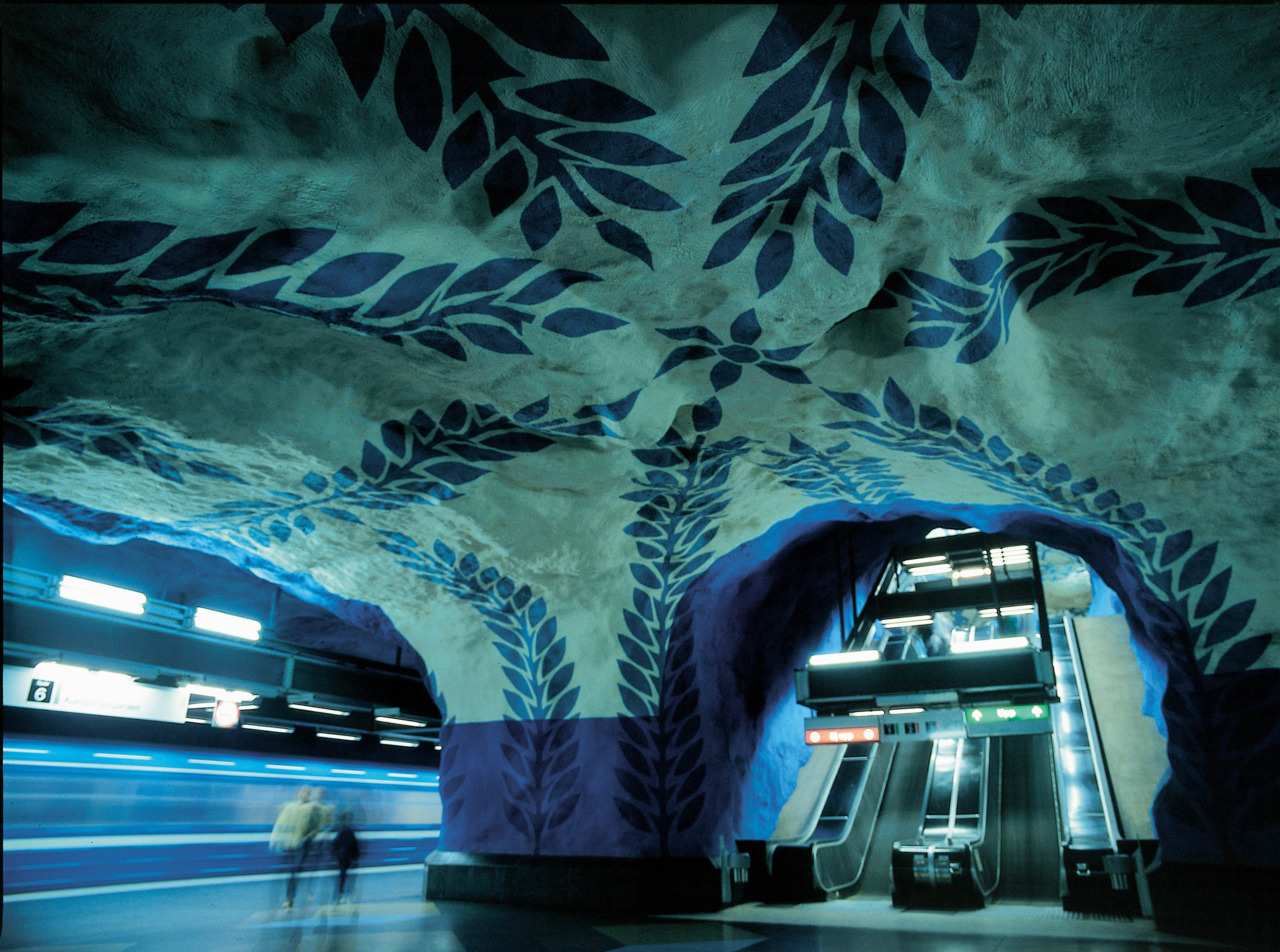Swedish Subway System Photos  via @inti