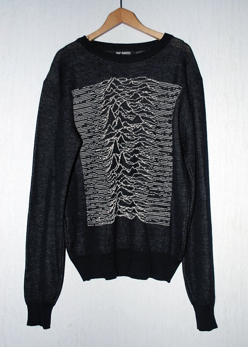Raf Simons Peter Saville 'Unknown Pleasures'