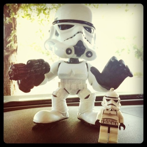 I like it when you call me big Pop…pa! #Stormtrooper #starwars #bobblehead  (Taken with instagram)