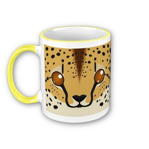 Time for a new mug design! This one's a cheetah :D