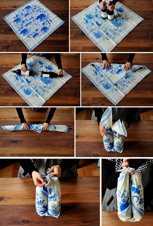 To add to my last post, here is another wonderful wrapping idea! Especially in the case of wrapping a wine bottle, which is never an easy thing! Enjoy and Happy Planning! <3