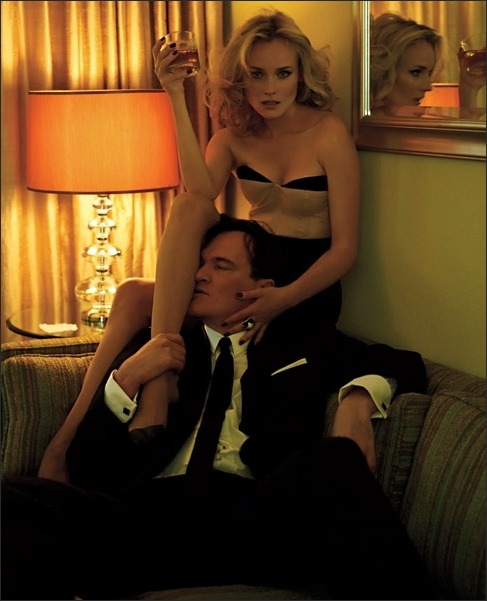 Why Diane Kruger let´s Quentin Tarantino touch her is beyond me.