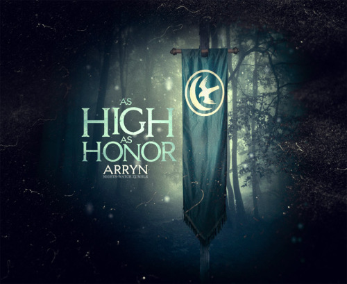HOUSE POSTERS  HOUSE ARRYN | SIGIL: WHITE MOON AND FALCON | WORDS: AS HIGH AS HONER