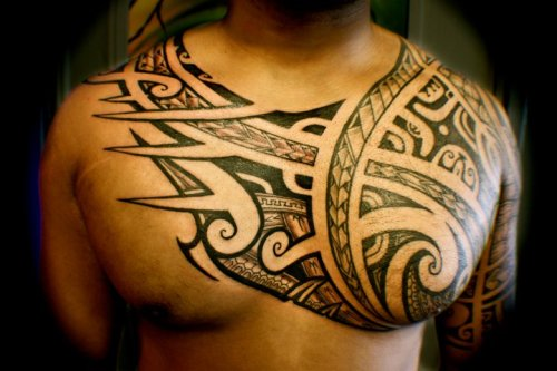 Somewhat my Tat going to look like. drews-inklets:  Awesome shoulder piece
