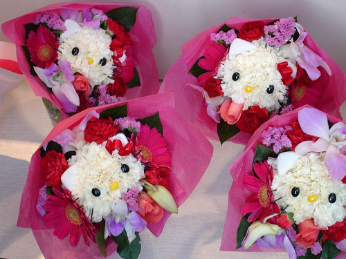 hello kitty bouquet!! So cute!