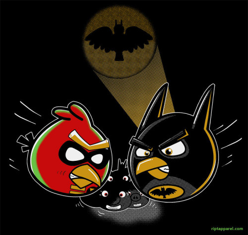 Batman and Robin meet Angry Birds in today's shirt from Ript Apparel. Designers: SpiR and Seth.