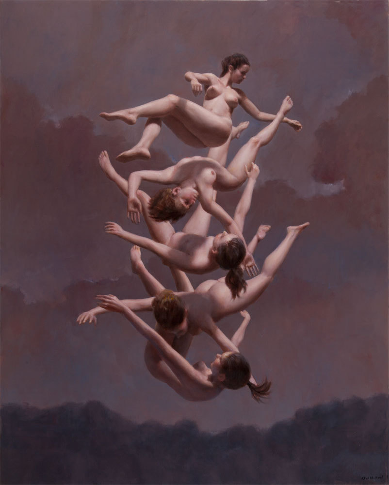 "ssdmmfr: Artist: Harry Holland ""Falling"" Oil on Canvas 102 x 81 cm (40 x 32 in)"