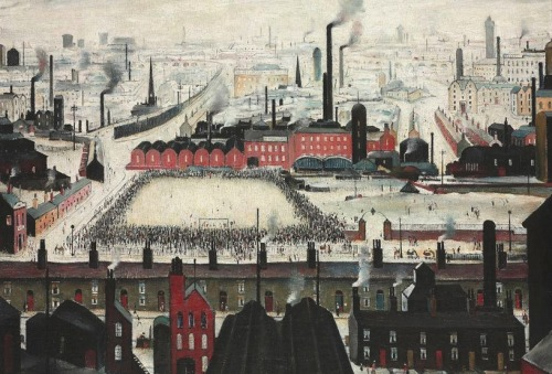 "L.S. Lowry (1887-1976) ""The Football Match"" - 1949"