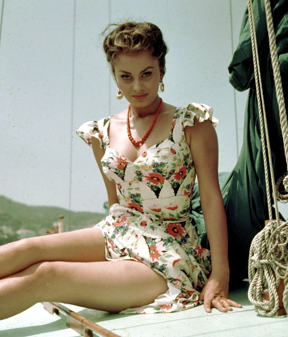 "theniftyfifties:  Sophia Loren in the summertime.  ""A woman's dress should be like a barbed-wire fence: serving its purpose without obstructing the view."" - Sophia Loren   OFFICIAL HNNNNNNNGGGGGGGGGGGGGGGGGGGGGGGGGGGG-GUHHHHHHHHHH"