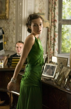 "clubmyrtlemae:  Keira Knightley in ""Atonement"" (2007). Costume Design by  Jacqueline Durran."