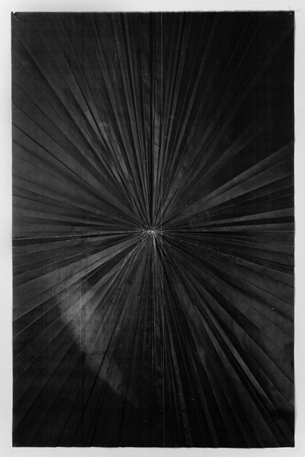 "Niall McClelland - Tapestry II. Photocopy on folded paper, 32"" x 48"" (2008)"
