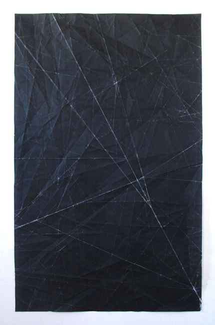 "artchipel:  Niall McClelland (b.1980, Canada) - Tapestry | Sketch 2. Folded photocopy on paper, 35.5"" x 57.5"" (2011) [more Niall McClelland]"