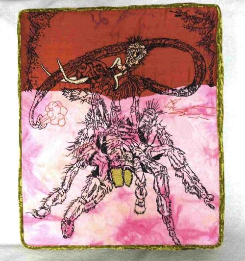 spidergirl rules Mixed media 2004