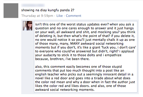 I like being annoying on Facebook.