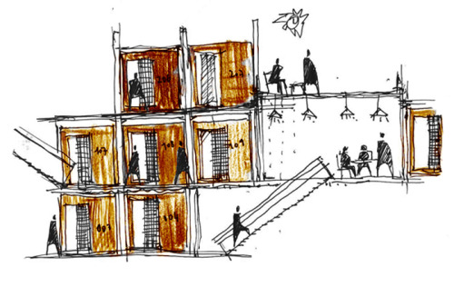 058///2009 Students Housing Project [Sketch]