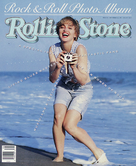 rollingstonesandtheramones:  Madonna frolics on the beach in Malibu, Calfornia for her September 21, 1989 Rolling Stone cover.