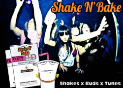 Shake x Buds x Tunes.  Shake N' Bake. Downtown Denver Summer 2011