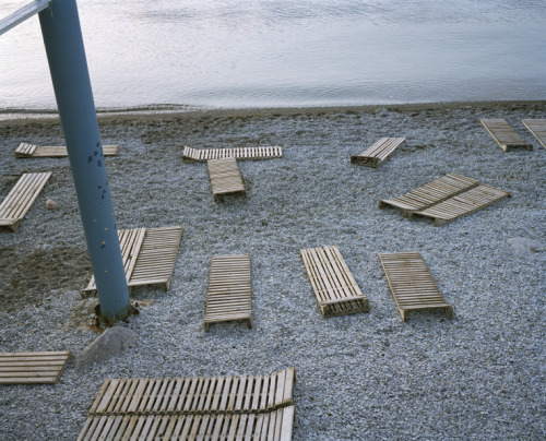 Beach Chairs, Gurzuf, Ukraine, 2004 (via Sasha Rudensky), from the series Remains