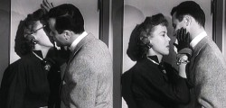 Kissing Ida Lupino in Marriageable Male episode of the Ford Television Theatre in 1954.