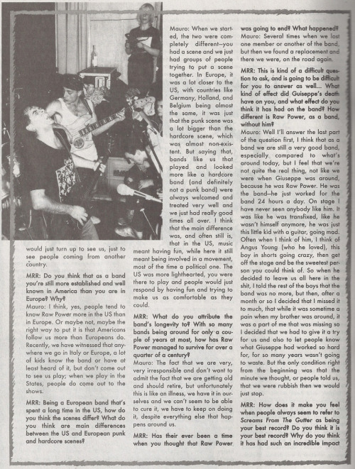 MRR #303 August 2008 - Raw Power interview (page 2)
