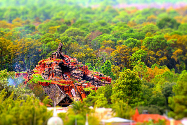 Splash Mountain Miniature -Tilt-Shift by Express Monorail
