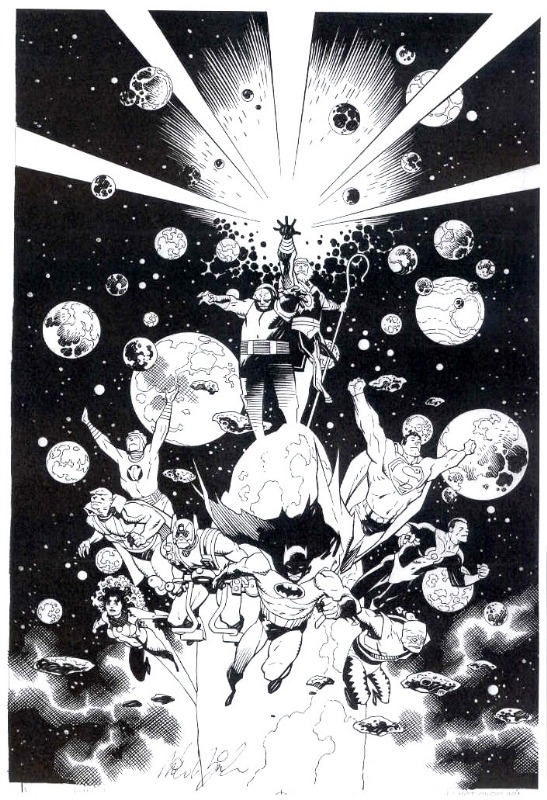 phoning-it-in:  awyeahcomics:  The New Gods & the Justice League by Mike Mignola  Cosmic Odyssey will always be one of my favorite books.