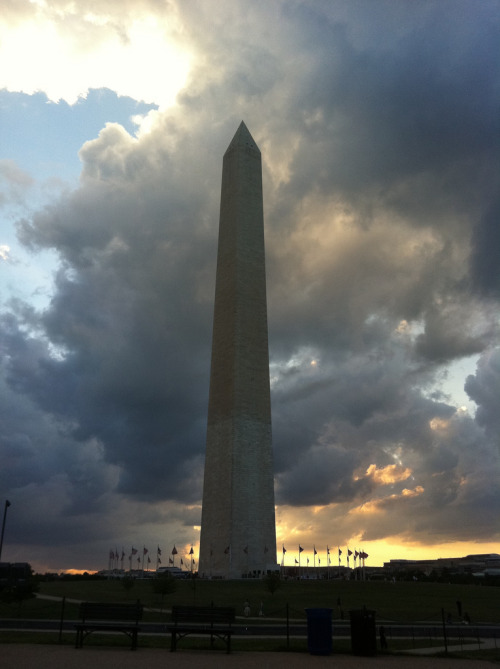 The Washington Monument.