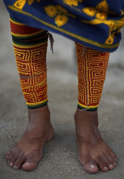 Foot photos: Kuna ankles : ) Kuna is a tribe of indigenous people in Panama & Colombia.  They are famous for their molas a textile art using methods of applique and reverse applique. (Thank you, iheartloons)
